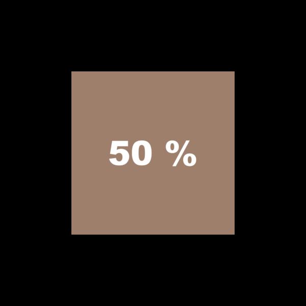 Braun 50%